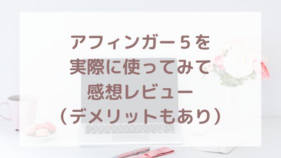 【限定特典付き】評判の良いAffinger5(アフィンガー5)を実際に使ってレビュー(デメリットもあり)